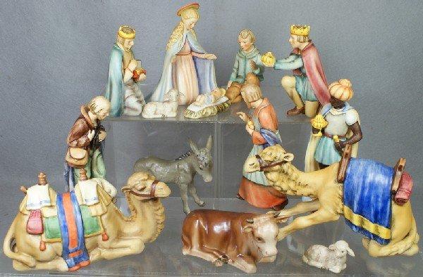 """110: 12 pc Hummel Nativity Set: Mary - 214/A, 6 1/2"""" ta"""