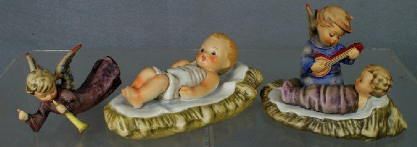 143: 3 Hummel figurines: All Infant of Krumbad (new sty
