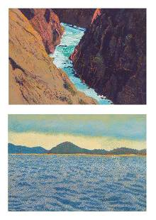 (2) Joseph DiGiorgio California Landscape Paintings
