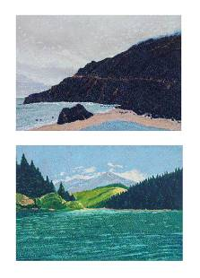(2) Joseph DiGiorgio Western Landscape Paintings