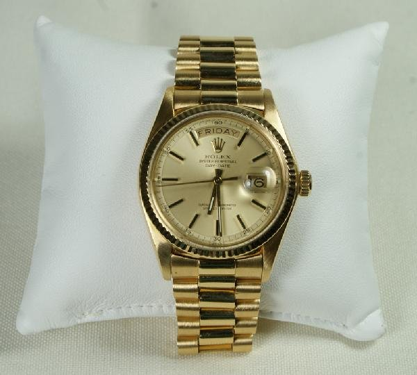 "2: 18K YG Rolex ""Oyster Perpetual Day-Date""  man's wris"
