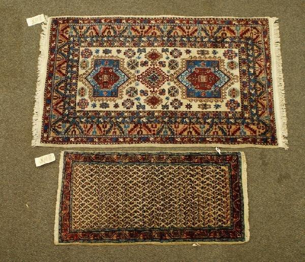 1004: (2) oriental throw rugs, 2 x 4 Bakhtiari, 3.3 x 4