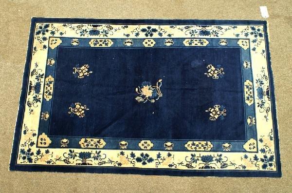 1008: 5.1 x 7.10 blue Peking Chinese rug