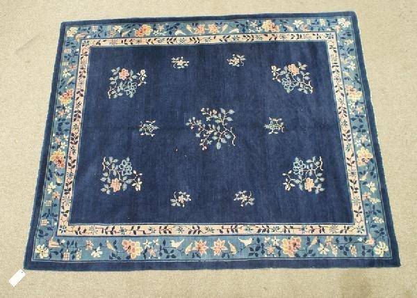 1014: 8 x 9.10 blue Peking Chinese rug