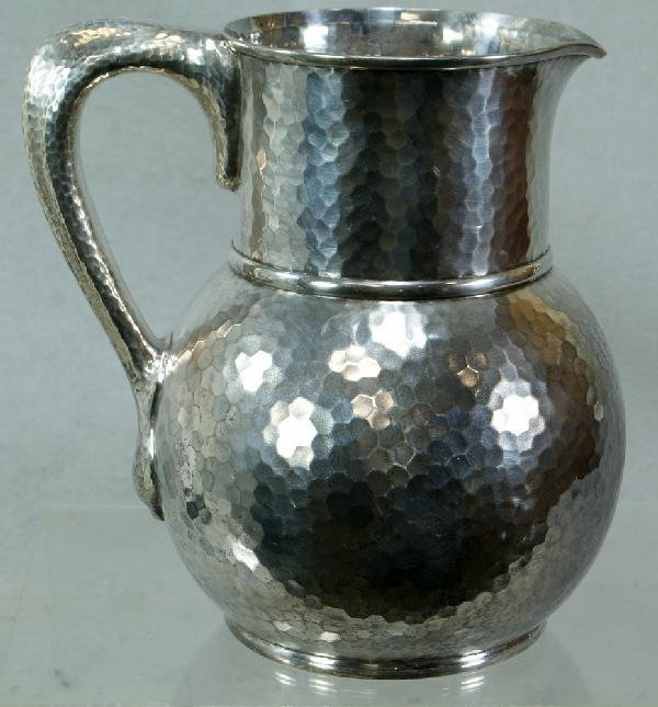 1045: Tiffany & Co, Makers sterling silver hammered pit