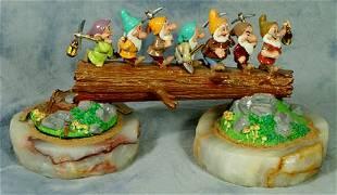 Ron Lee porcelain & agate figurine, Heigh-Ho, 6 1/4