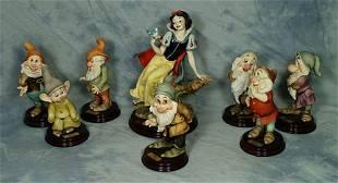 8 pc Armani porcelain set, Snow White & the 7 Dwarf