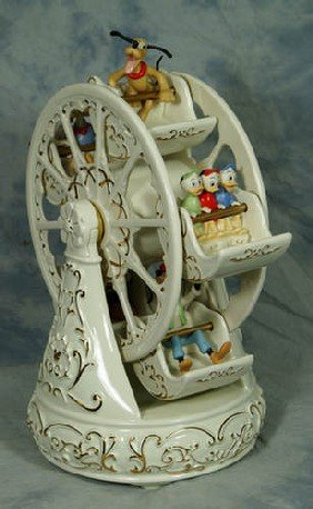 18: Lenox porcelain figurine, Mickey & Friends at the F