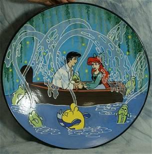 Limited Ed ceramic plate, Little Mermaid, Kiss the