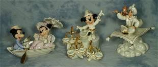 "(3) Lenox Disney Figurines, Aladdin 9"" tall, While"