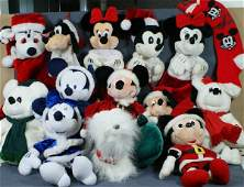 329: Large lot of Disney Christmas items, including (6)