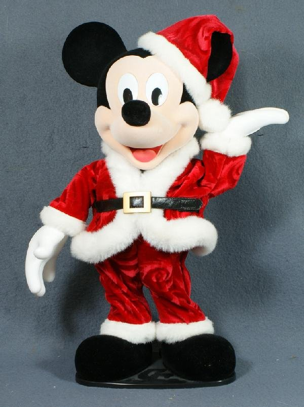 333: Animated Mickey Mouse Santa, plays Rockin' Around