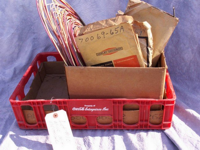 10: Crate of original electrical parts, wiring