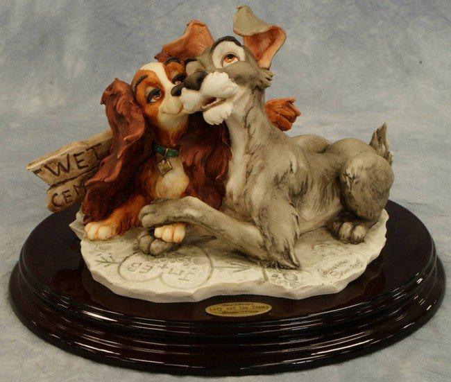 4: Lady and the Tramp, original Giuseppe Armani porcela