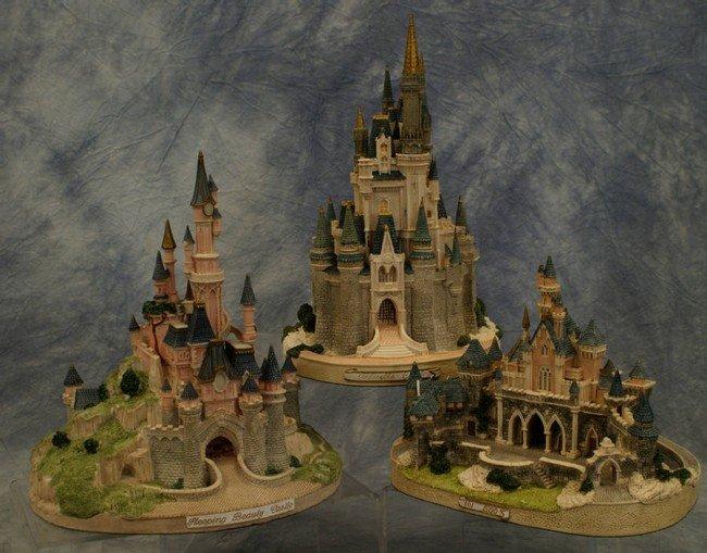 7: (3) Castle figurines, Sleeping Beauty Castle 101/500