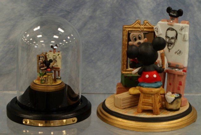 12: (2) Walt Disney triple portrait figurines, Goebel m