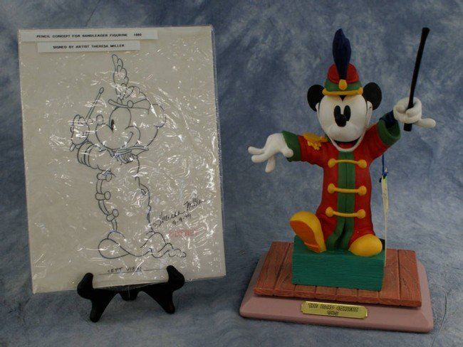 15: Signed limited ed. figurine, the Band Concert, with