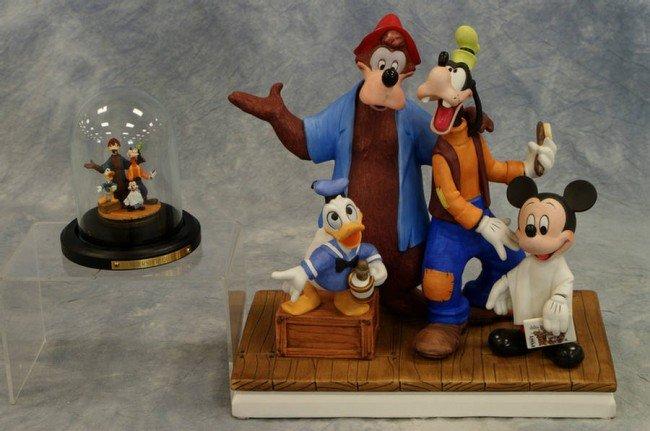 20: (2) Disney figurines, Barber Shop Quartet, limited