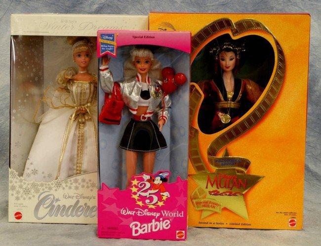 23: (3) Mattel Disney Collector dolls, Winter Dream Cin
