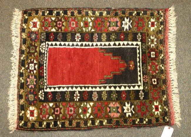 9: 2.9 x 3.4 Turkish Prayer Rug