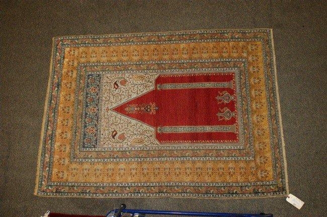 24: 4.4 x 5.11 Turkish Banderma Prayer Rug