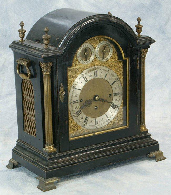 354: Ebonized George III bracket clock by Jonathan Elli