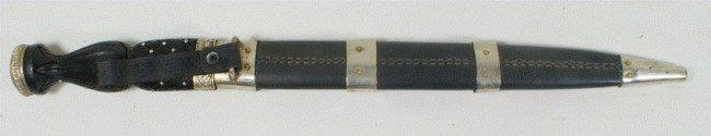 110M: Vintage Scottish Dirk dagger, Damascus blade, UK  - 2