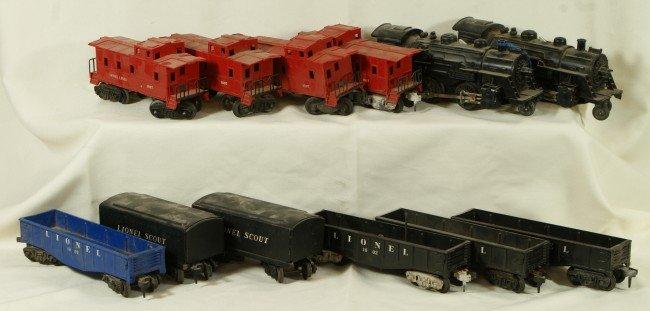 1: (12) Lionel train cars including: 2 engines & 10 Lio