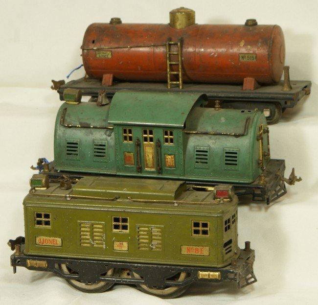 4: Lionel standard gauge #10E, #8E & #515 tank car