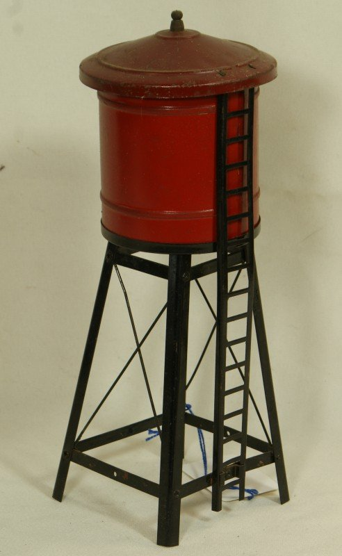 19: American Flyer O gauge water tower, partial OB