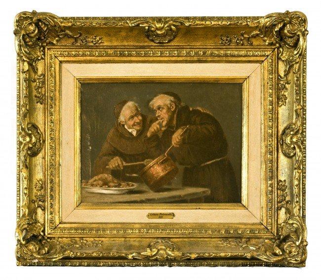 13:  Arturo Petrocelli, Italian, 1856-1926, o/c, Monks