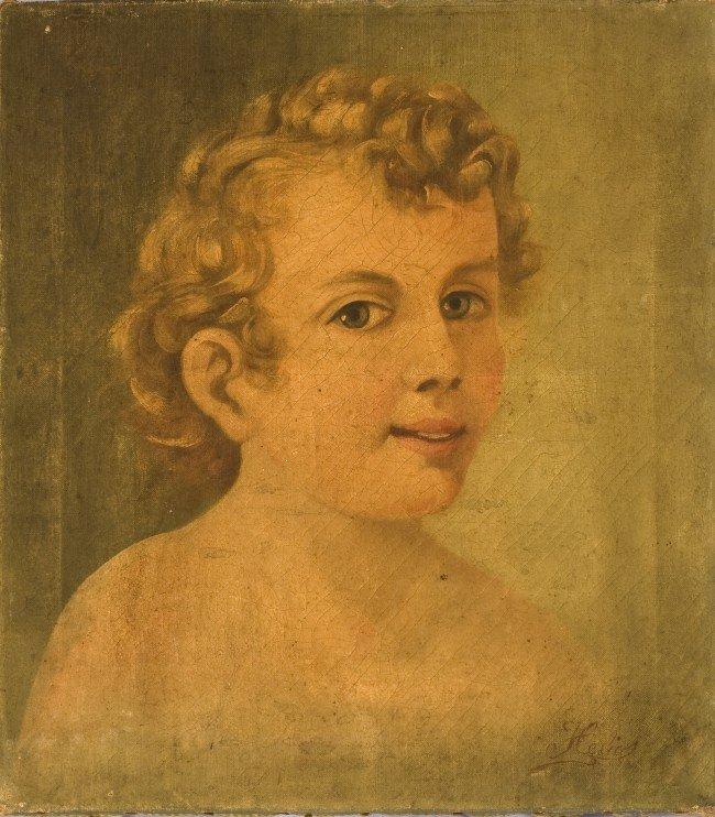 14: Helios, Continental, 19th c, o/c, Portrait of a You