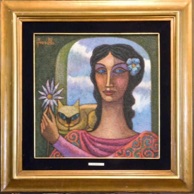 15:  R. Fiorillo, Spanish, 20th c, acrylic? on canvas,