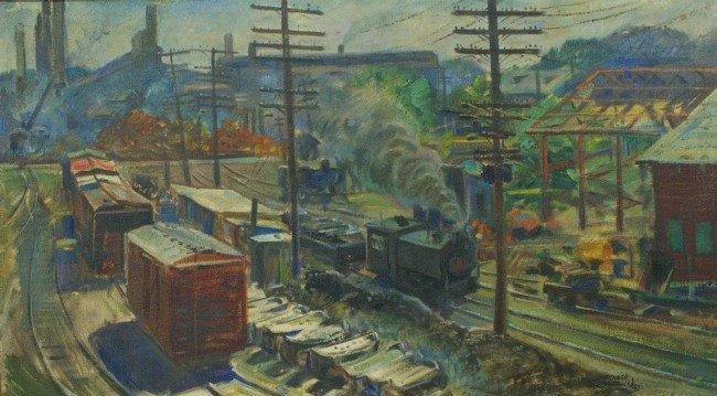 1: Richard Baldwin, American, PA, b 1920,  o/c, Iron Wo