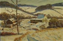 Richard Baldwin, American, PA, b 1920, oil on canvas
