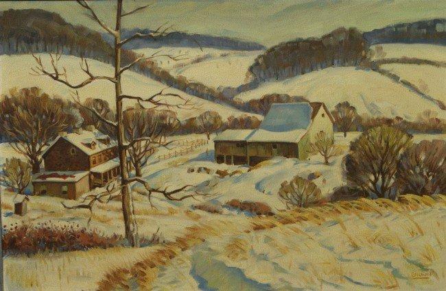 2: Richard Baldwin, American, PA, b 1920, oil on canvas