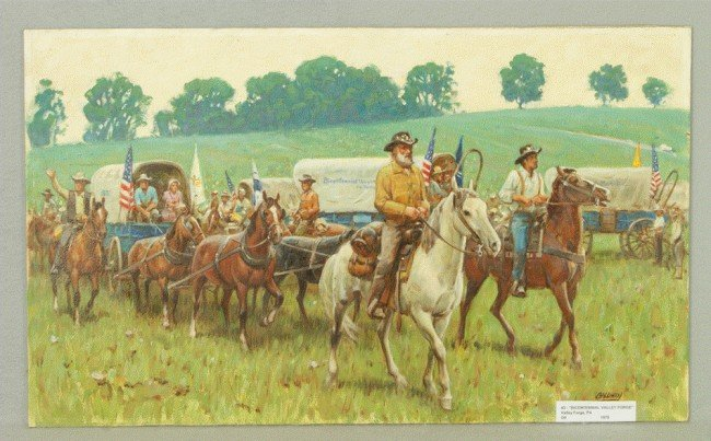 4: Richard Baldwin, American, PA, b 1920, oil on artist