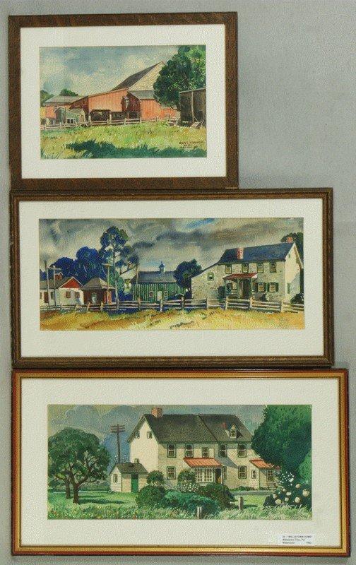 5: Richard Baldwin, American, PA, b 1920, (3) works, w/