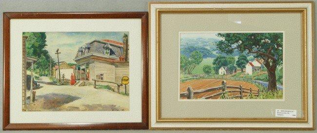 7: Richard Baldwin, American, PA, b 1920, (2) works, w/