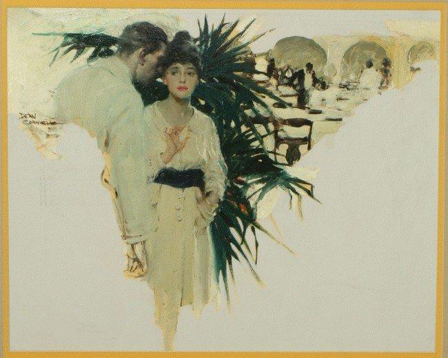 314: Dean Cornwell, American, CA, 1892-1960, oil on art