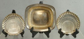 """(2) Gorham Sterling Silver Shell Dishes, 6"""", With A"""