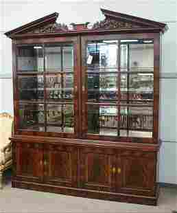 137A: Henredon Natchez Collection mahogany breakfront,