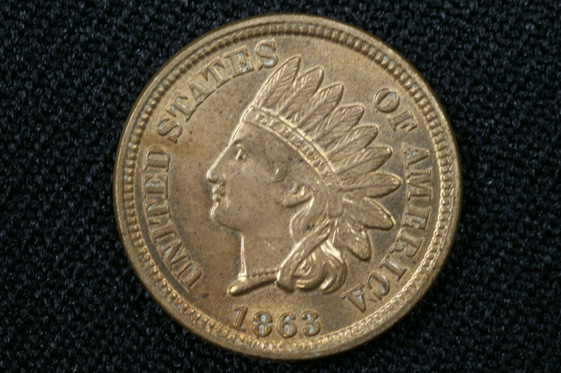 5: 1863 c/n Indian cent MS60