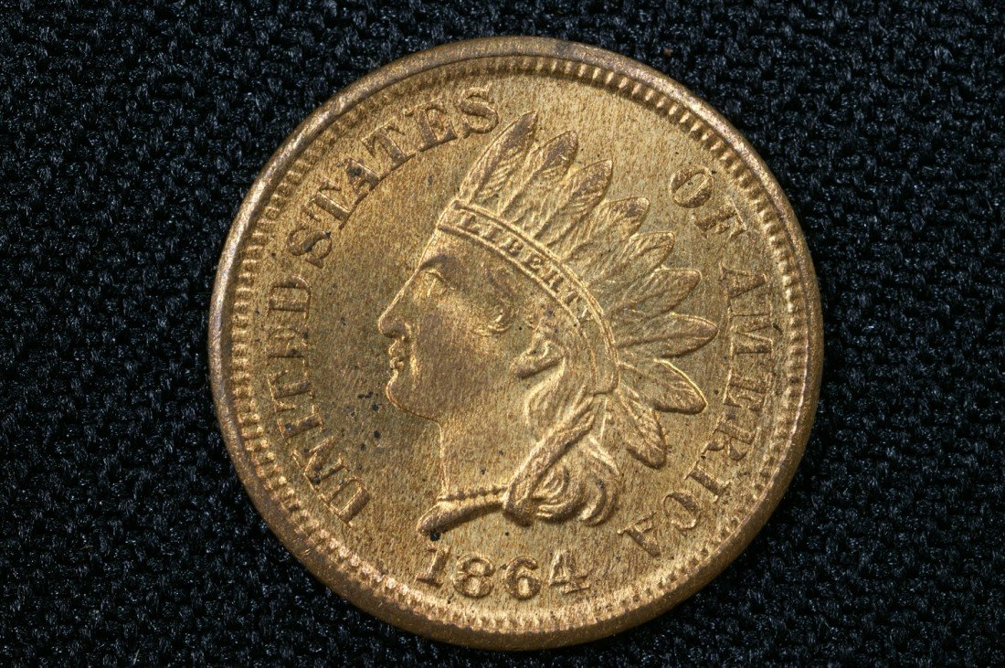 6: 1864 BN Indian cent MS60 red