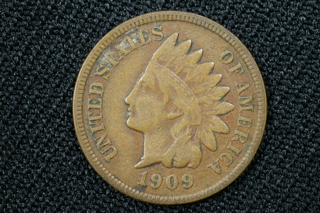 9: 1909 S Indian cent VG-F
