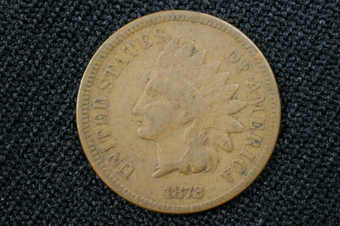 11: 1872 Indian cent G-VG