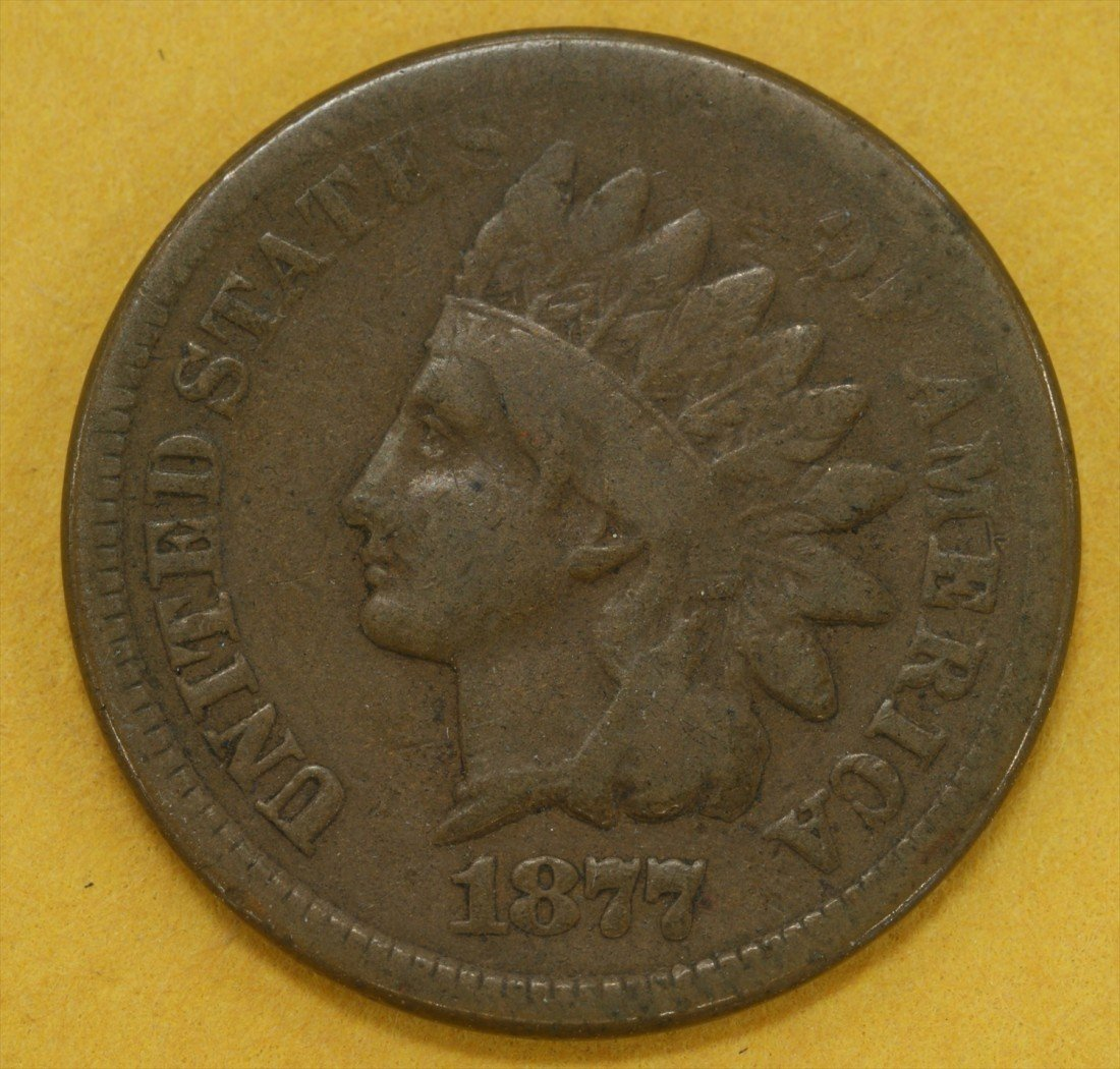 12: 1877 Indian cent G