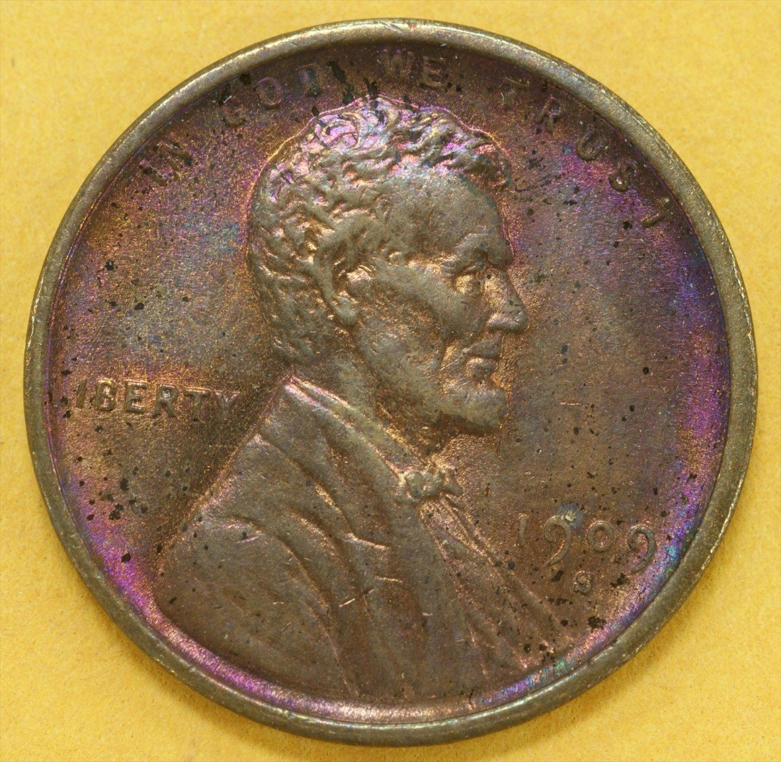 15: 1909-S VDB Lincoln cent EF to AU few trivial carbon