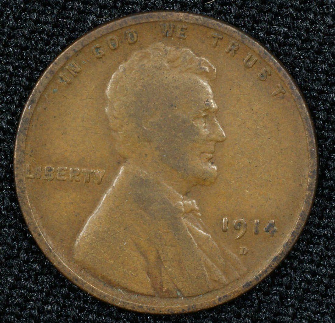 16A: 1914D Lincoln cent, good no problem coin