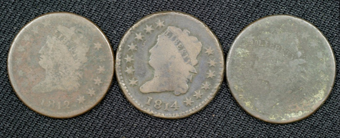 29: 1810, 1812, + 1814 large cents AG/G